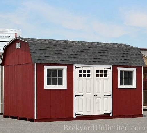 10u0027x16u0027 High Barn with 6-Lite Fiberglass Doors Metal Gable Vent & 10u0027x16u0027 High Barn with 6-Lite Fiberglass Doors Metal Gable Vent ...