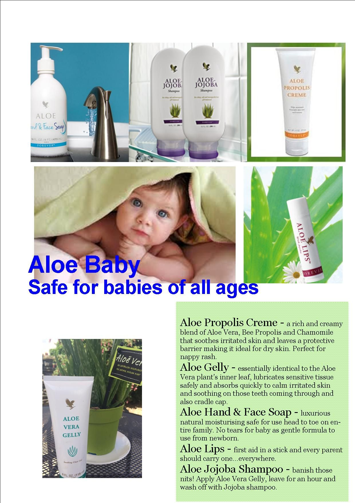 What Can Aloe Do For Your Baby Forever Products Forever Living Business Forever Living Products
