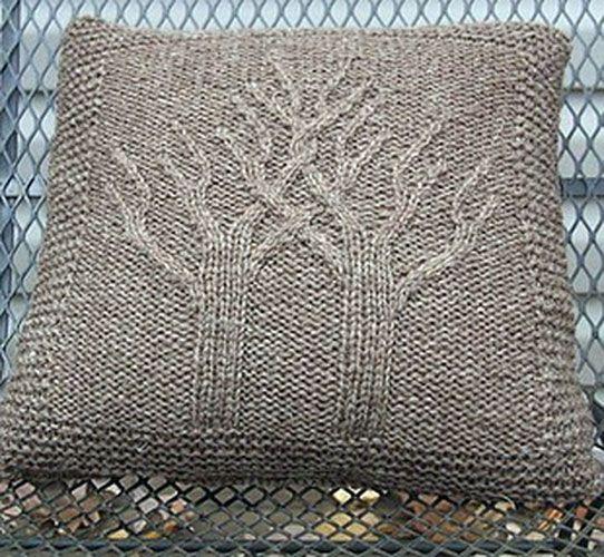 Узоры вязания для подушек 836