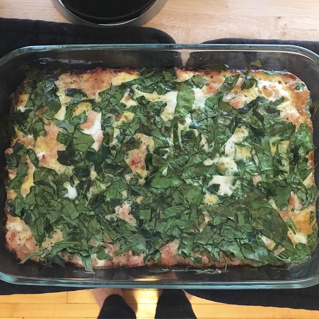 """6 Likes, 1 Comments - GlutenOnTheFritz (@glutenonthefritz) on Instagram: """"Not the greatest picture, but I found this pic of an egg bake I made last week that I forgot to…"""""""