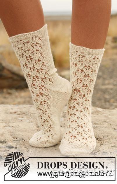 ажурные носки спицами носки гольфы гетры тапочки Wool Socks