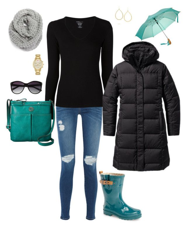 """Rainy Day Color!"" by kimzakaryan on Polyvore featuring Ippolita, Chooka, Current/Elliott, Majestic Filatures, Patagonia, Relic, Vince Camuto, Halogen and Kate Spade"
