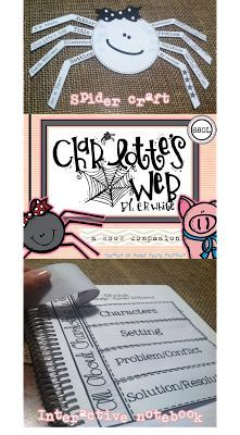 Charlotte's Web... a craft, comprehension questions, interactive notebook, etc.