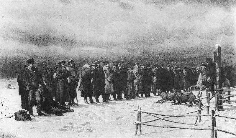 Artur Grottger - Pochód na Sybir,  1867