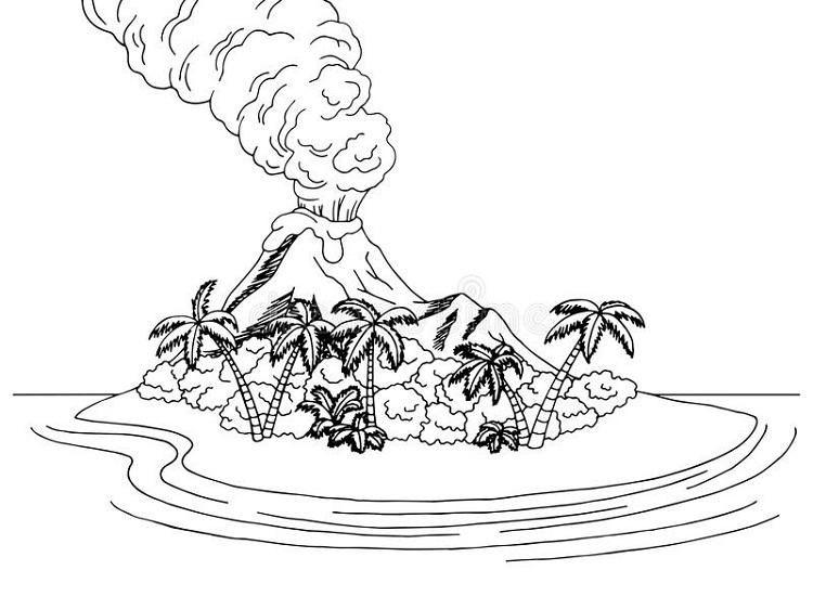 Volcano Islands Coloring Pages Coloring Pages Pokemon Coloring Pages Art