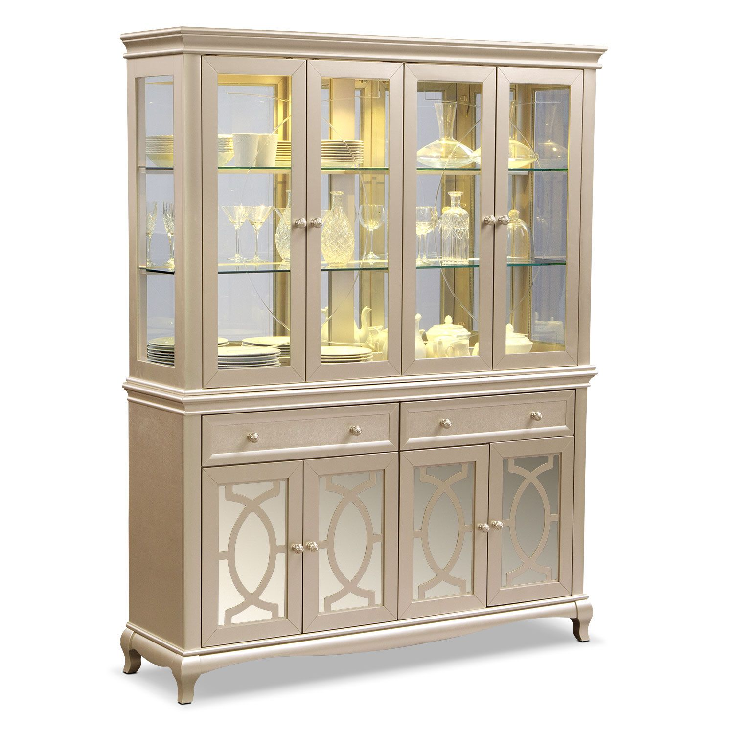 dining room furniture allegro buffet and hutch