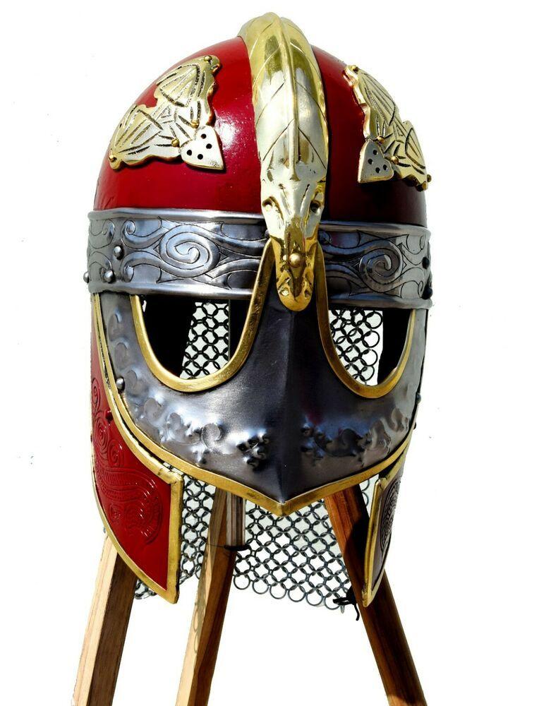 81c81f662a8bf Medieval Viking Crusader Helmet Warrior Armor Knight Adult Costume  Functional  Vintageantiqueitem