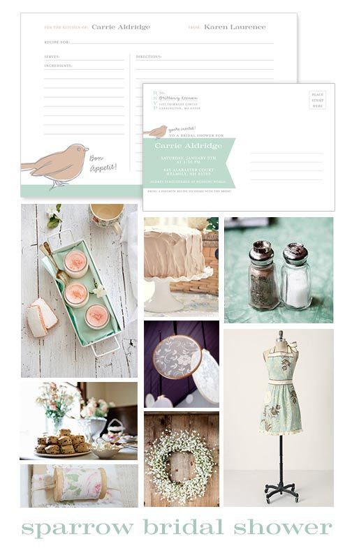 Beautiful and Unique Bridal Shower Invitations from CrinkledNose.com