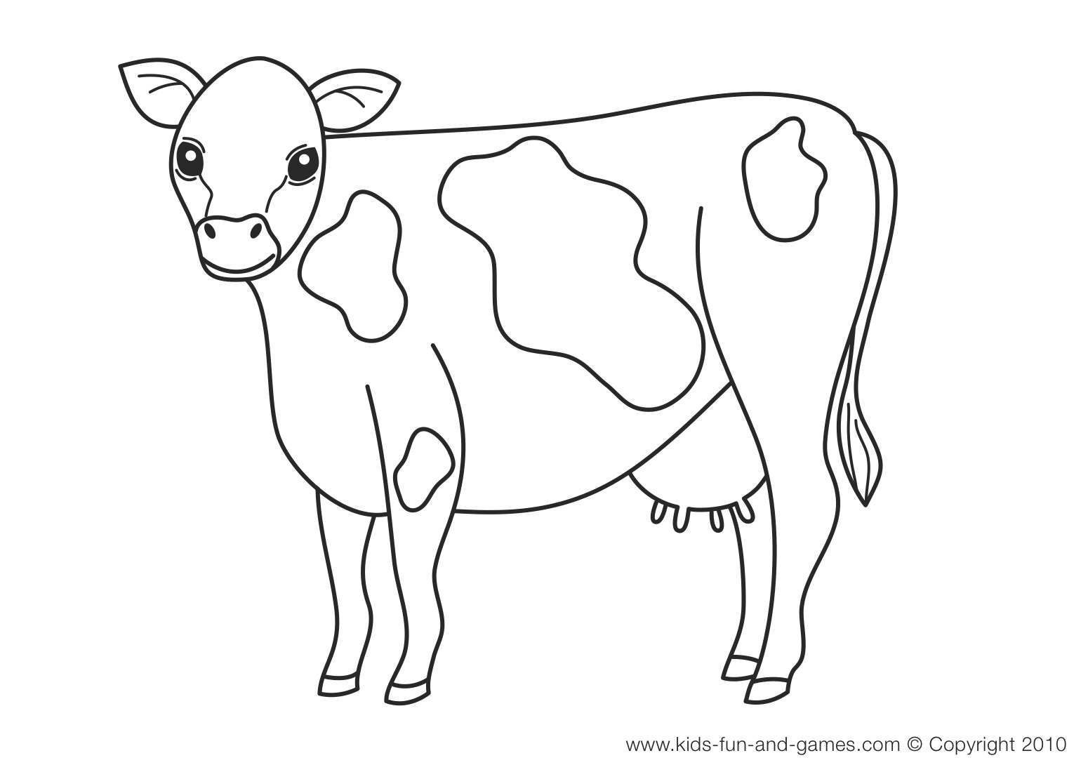 Cute cow coloring pages just