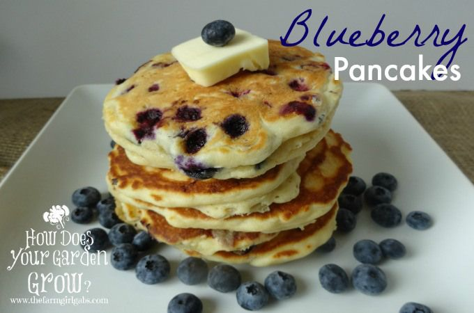These blueberry pancakes are light, fluffy and filled with lots for Jersey Fresh blueberries.