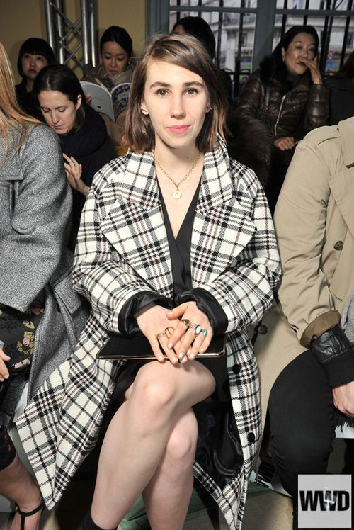 Zosia Mamet Front Row at Carven Photo by Stéphane Feugère