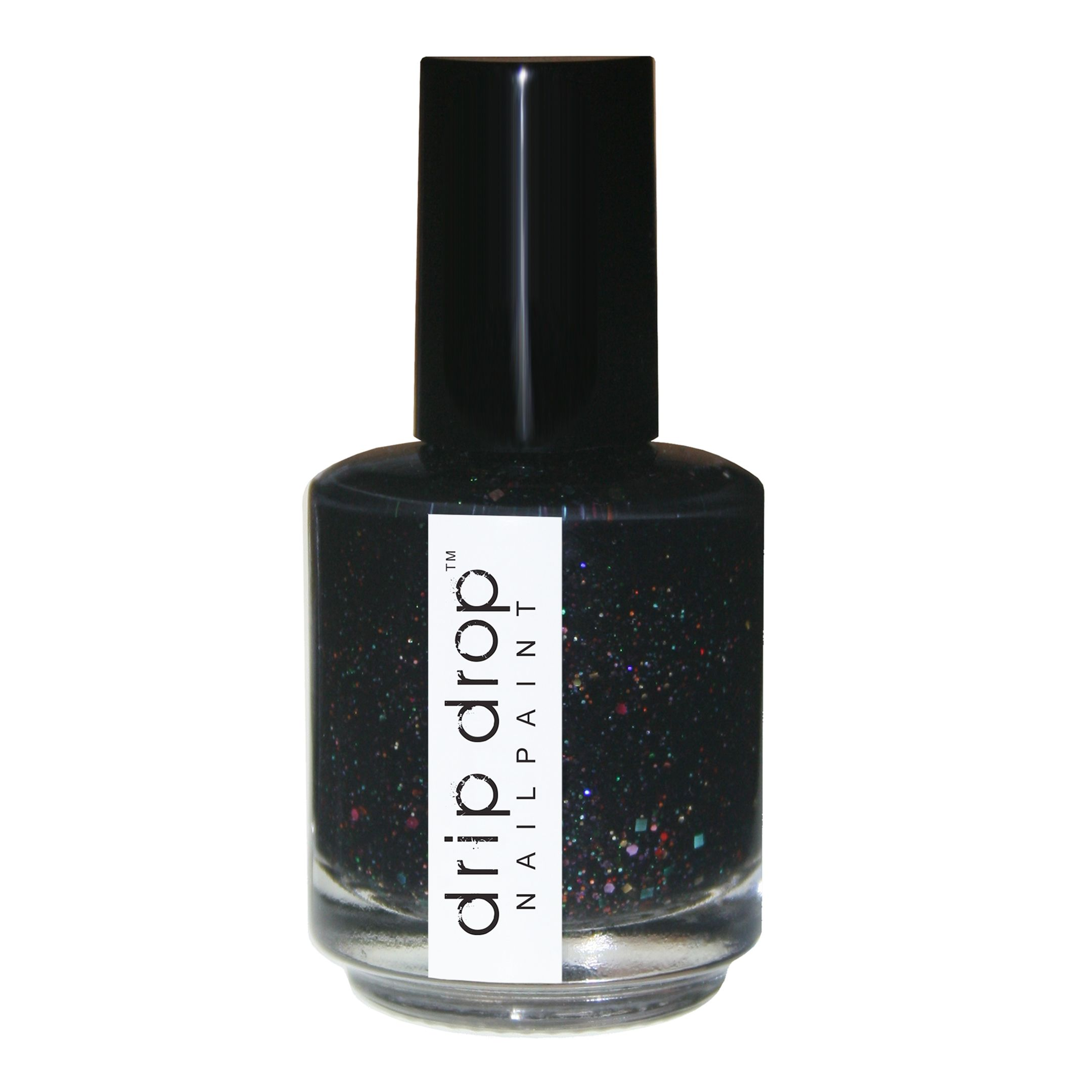 'hungover the rainbow'is a black glitter crelly with holo, rainbow colored glitters in various ...