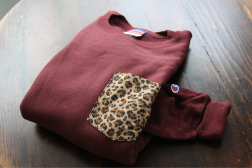 DIY idea: add a patterned pocket to a boring old sweatshirt @Sydney Holt