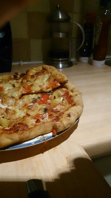 1st homemade pizza all from scratch!