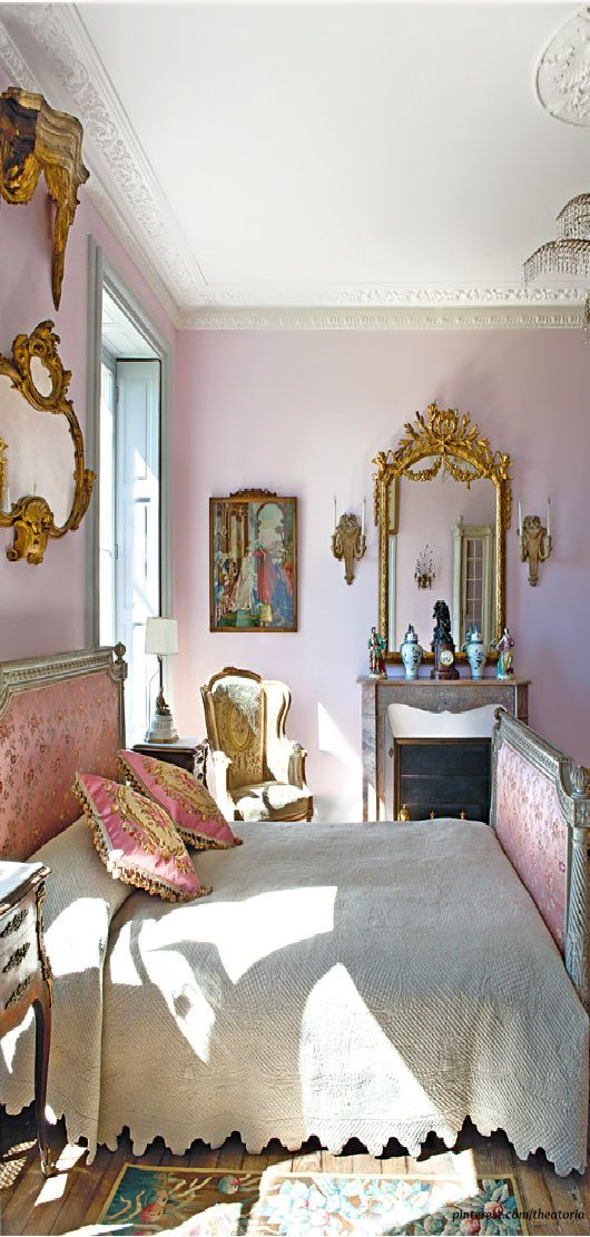 I Love this French Inspired and Beautifully Decorated Bedroom! See More at thefrenchinspiredroom.com