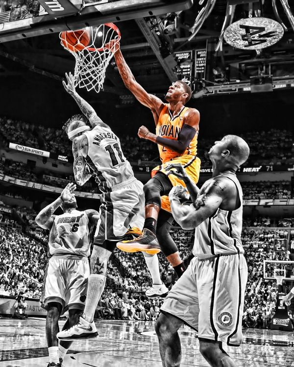 Apologies to the Bird Man, Paul George's dunk now available in fine art prints and canvases. $79.