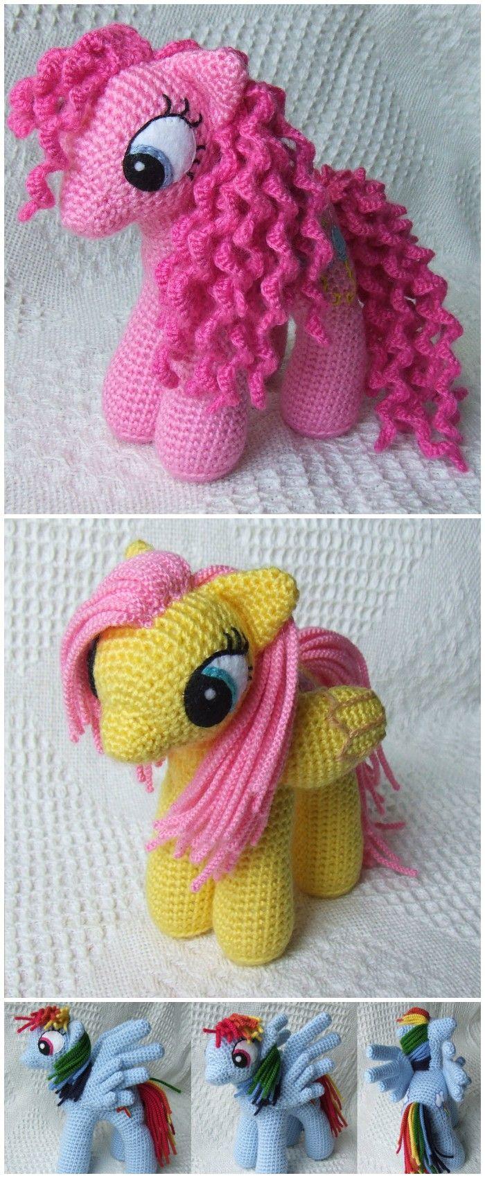 Pony Free Crochet Pattern   Crocheting   Pinterest   Muñecos de hilo ...