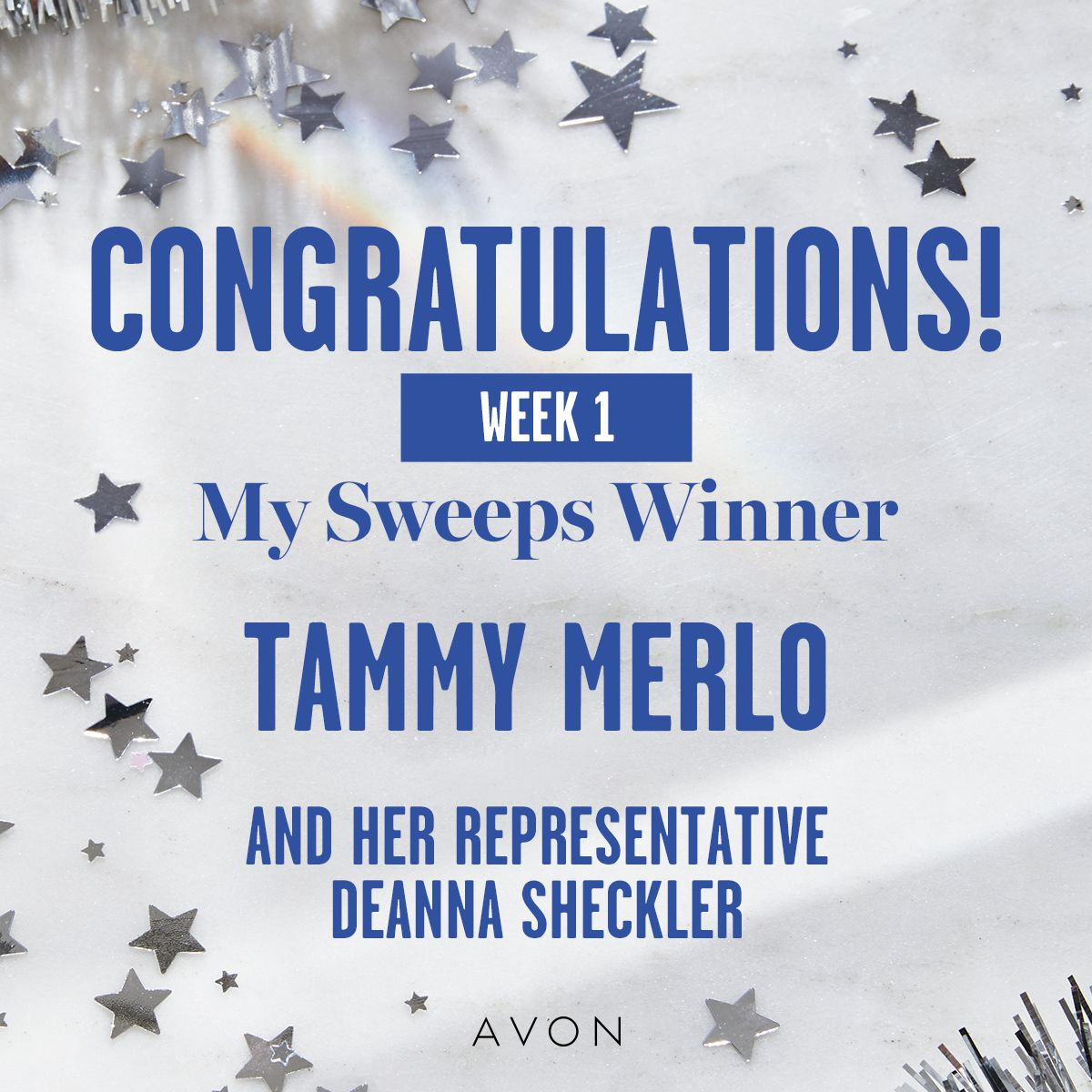 Congratulations to the week 1 winner of My Sweeps ...
