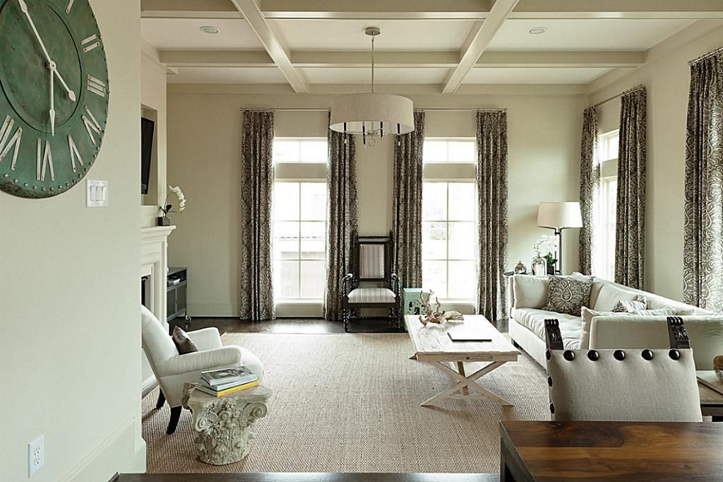 The living room has 10 foot ceilings oak hardwood floors for 10 foot ceiling house plans