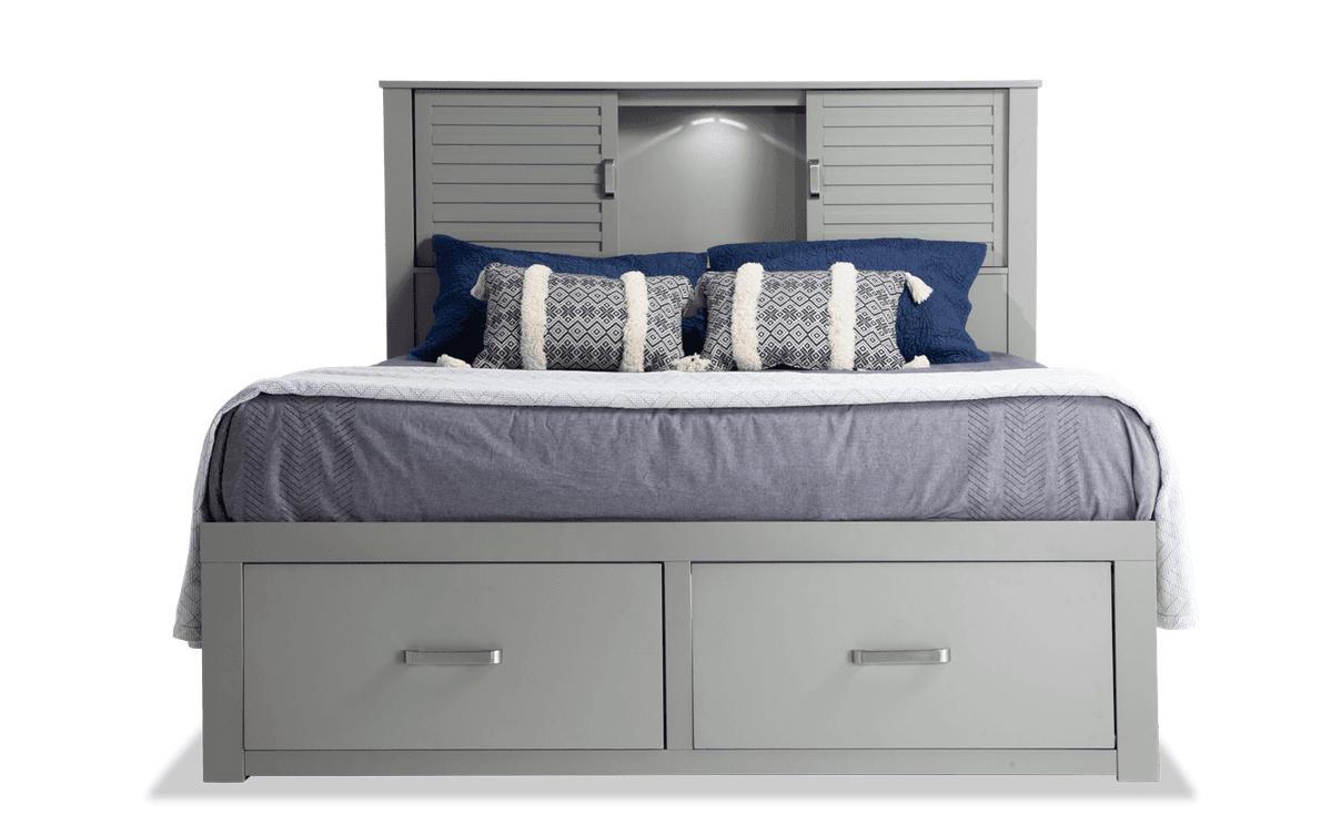 Dalton Queen Espresso Storage Bed in 2020 Grey storage