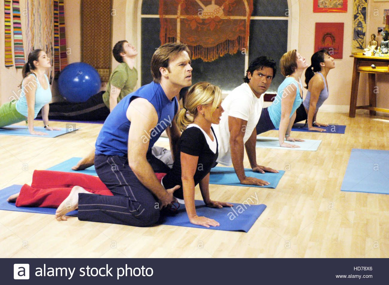 Download this stock image: HOPE AND FAITH, Trevor St. John, Kelly Ripa, Mark Consuelos, 'Zen and Now', (Season 3, aired March 21, 2006), 2003-06, photo: - HD78X6 from Alamy's library of millions of high resolution stock photos, illustrations and vectors.