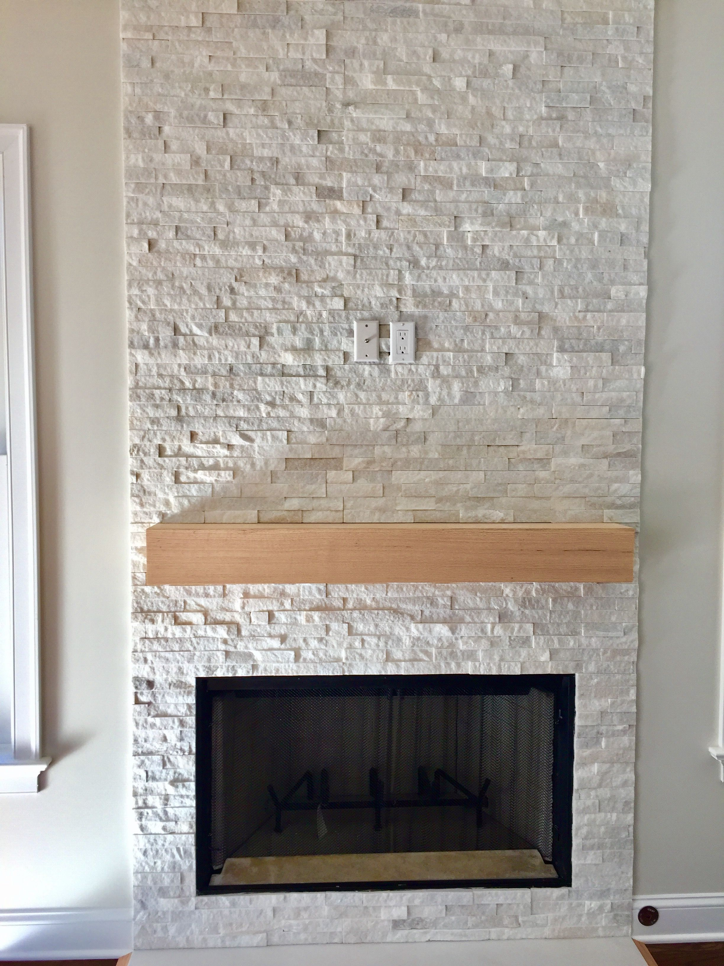 Stacked Quartz Fireplace