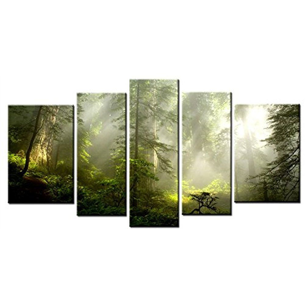 Framed Landscape Forest Tree Nature Canvas Art Print Picture Wall Home Decor Arthome Expressioni Nature Canvas Art Framed Canvas Wall Art Canvas Art Prints