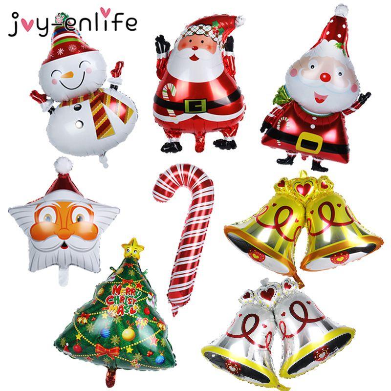 Merry Christmas Decoration Balloons Santa Claus Snowman Christmas