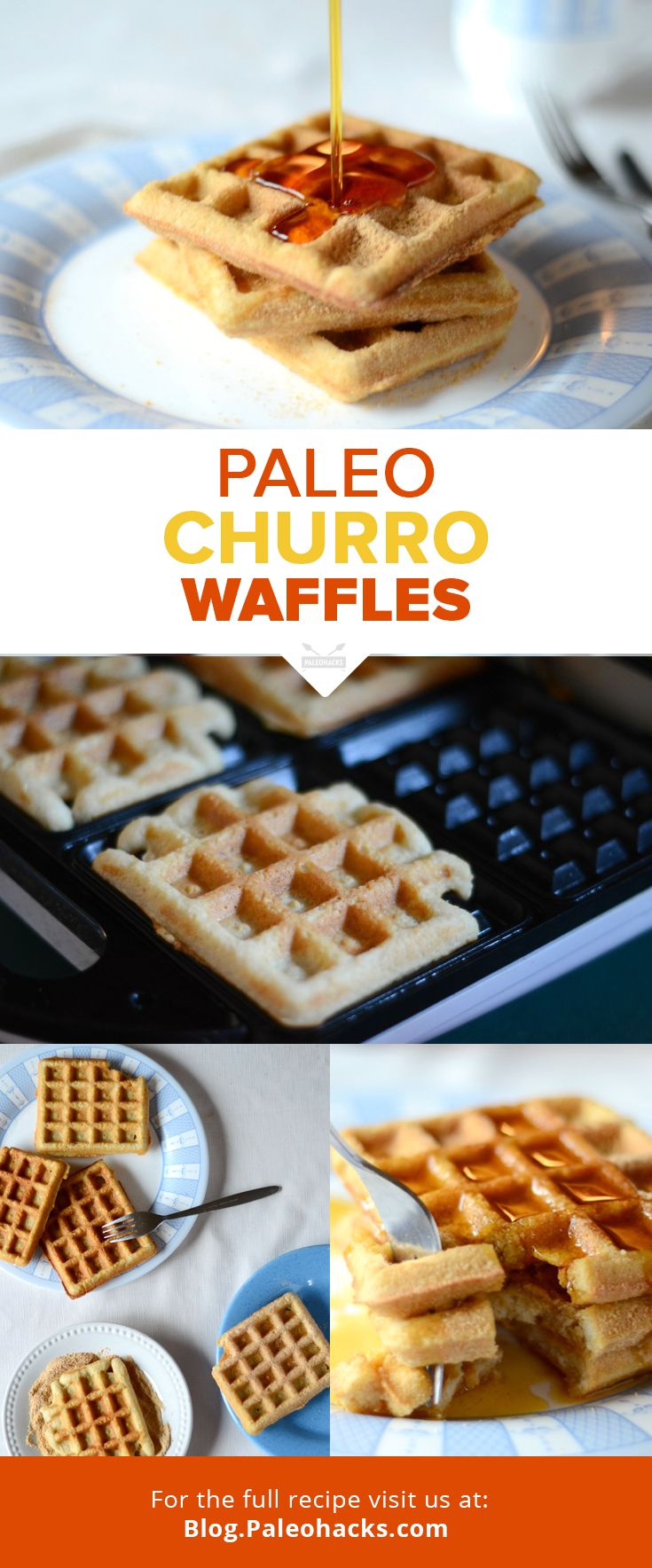 Indulge your sweet tooth with these crispy almond flour waffles dusted in cinnamon sugar!