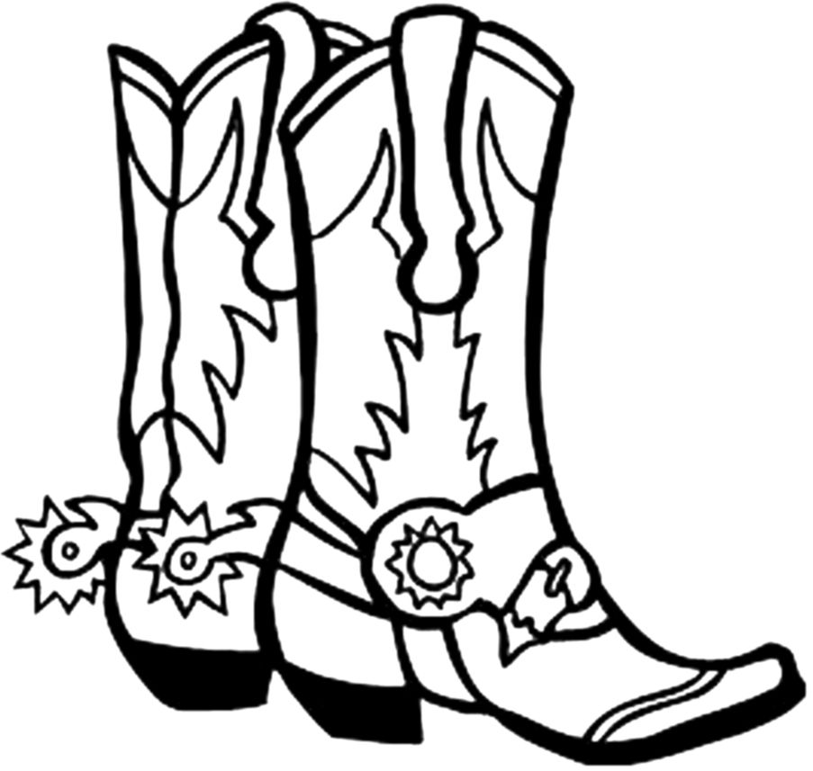 download pages and color in a saddle a wagon or two of cowboy boots