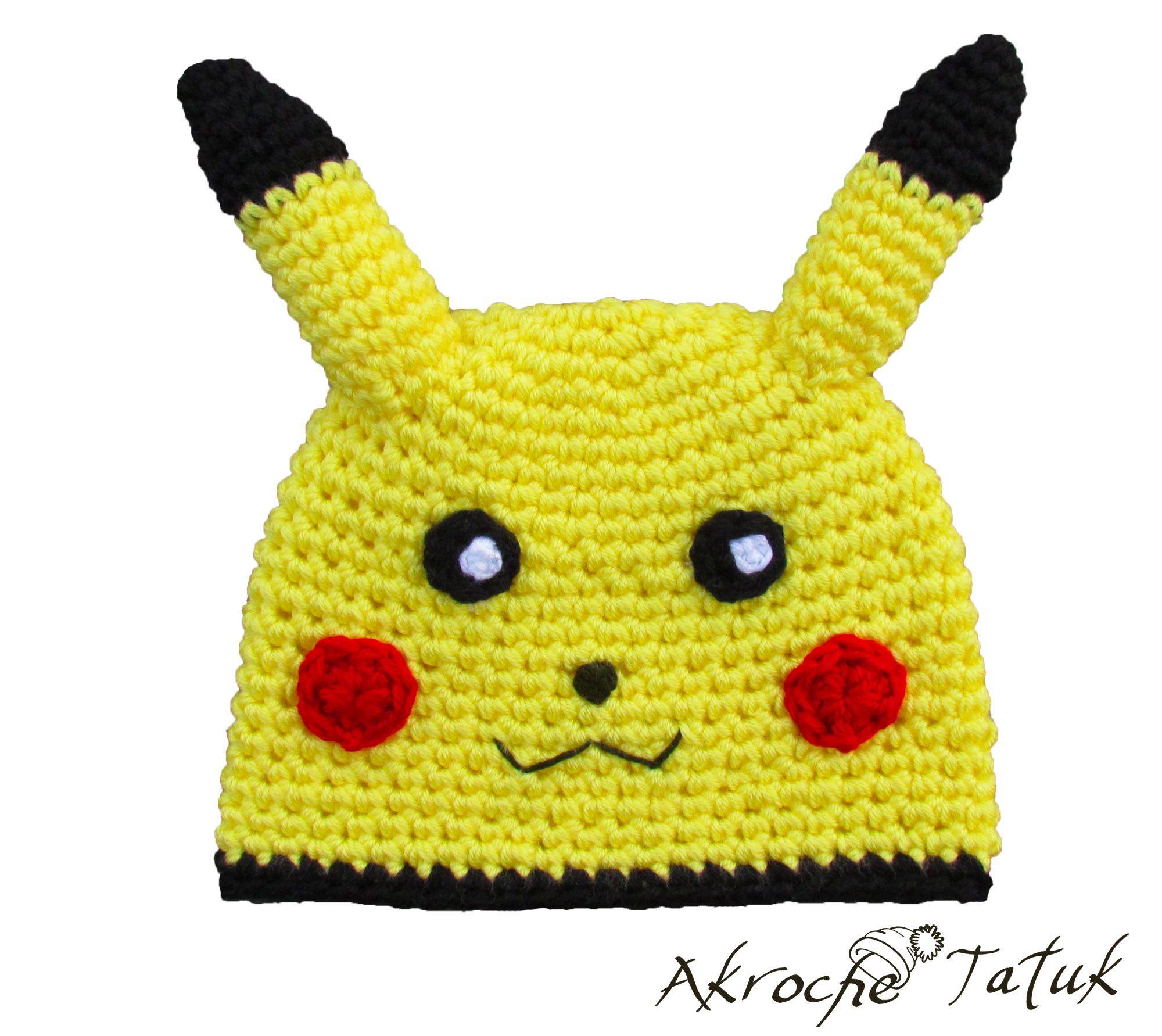 Tuque Pikachu Pikachu crochet hat   Hat Costume   Pinterest ...