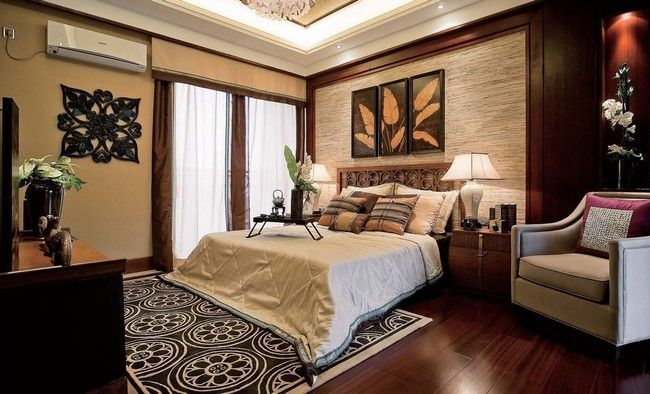 Interior decorating bedroom asian style