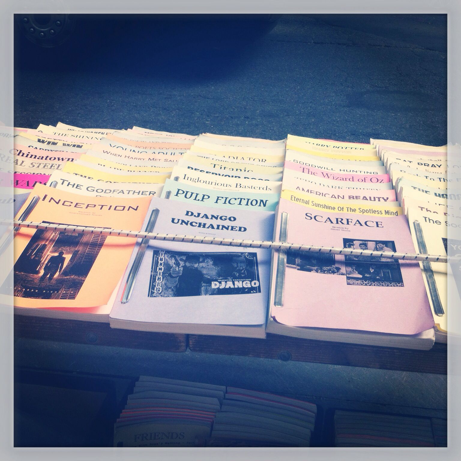 Famous movie scripts sell at NYC streets  | I <3 NY | Famous movies