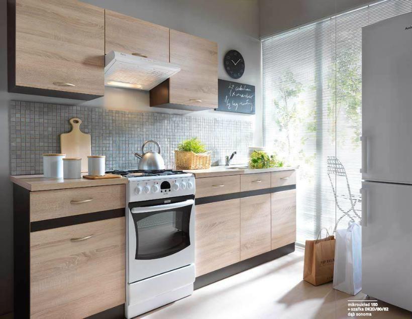 Details About Complete Kitchen Set 7 Units Sonoma Oak
