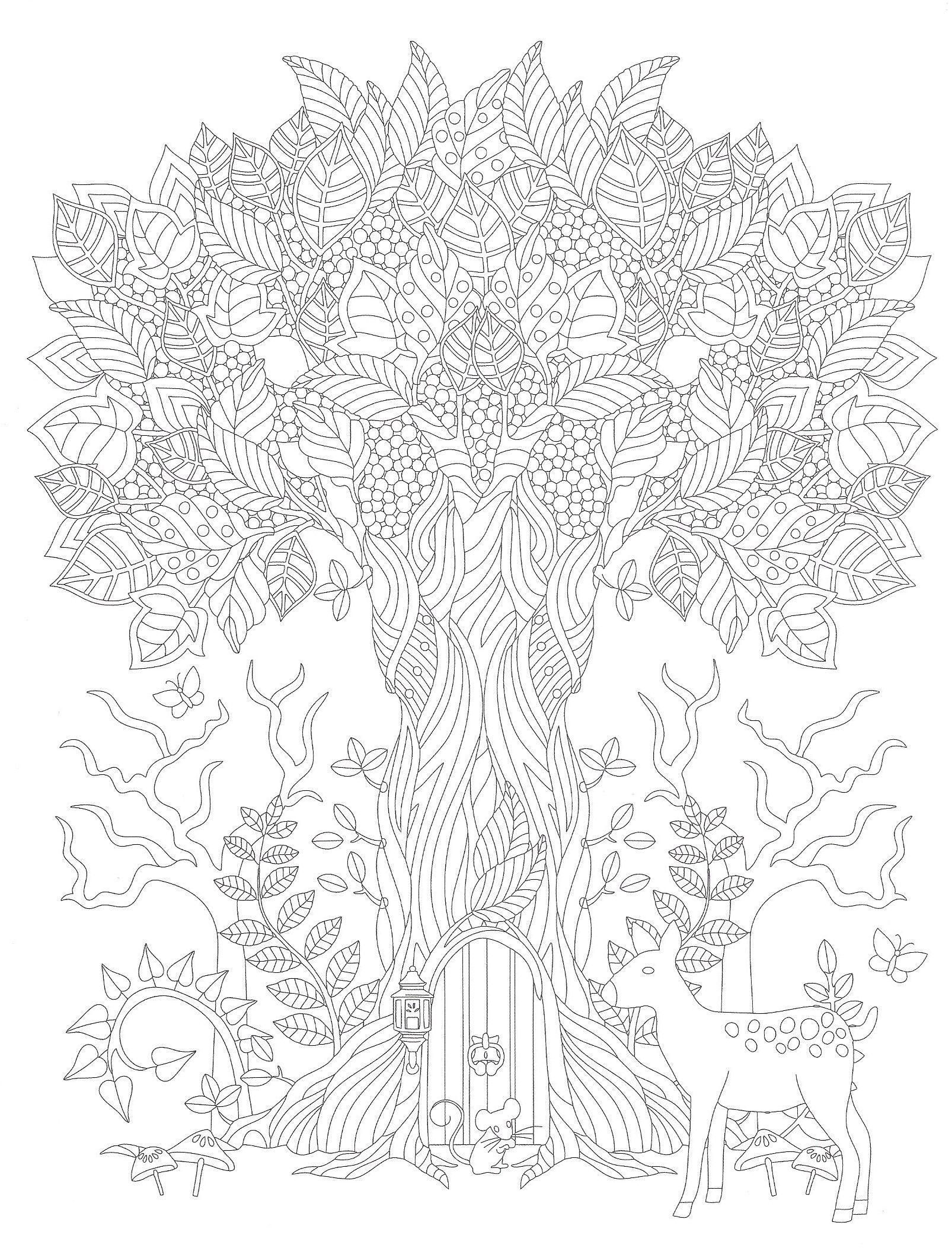 Malvorlagen Coloringpage Ausmalen Baum Tree Blätter