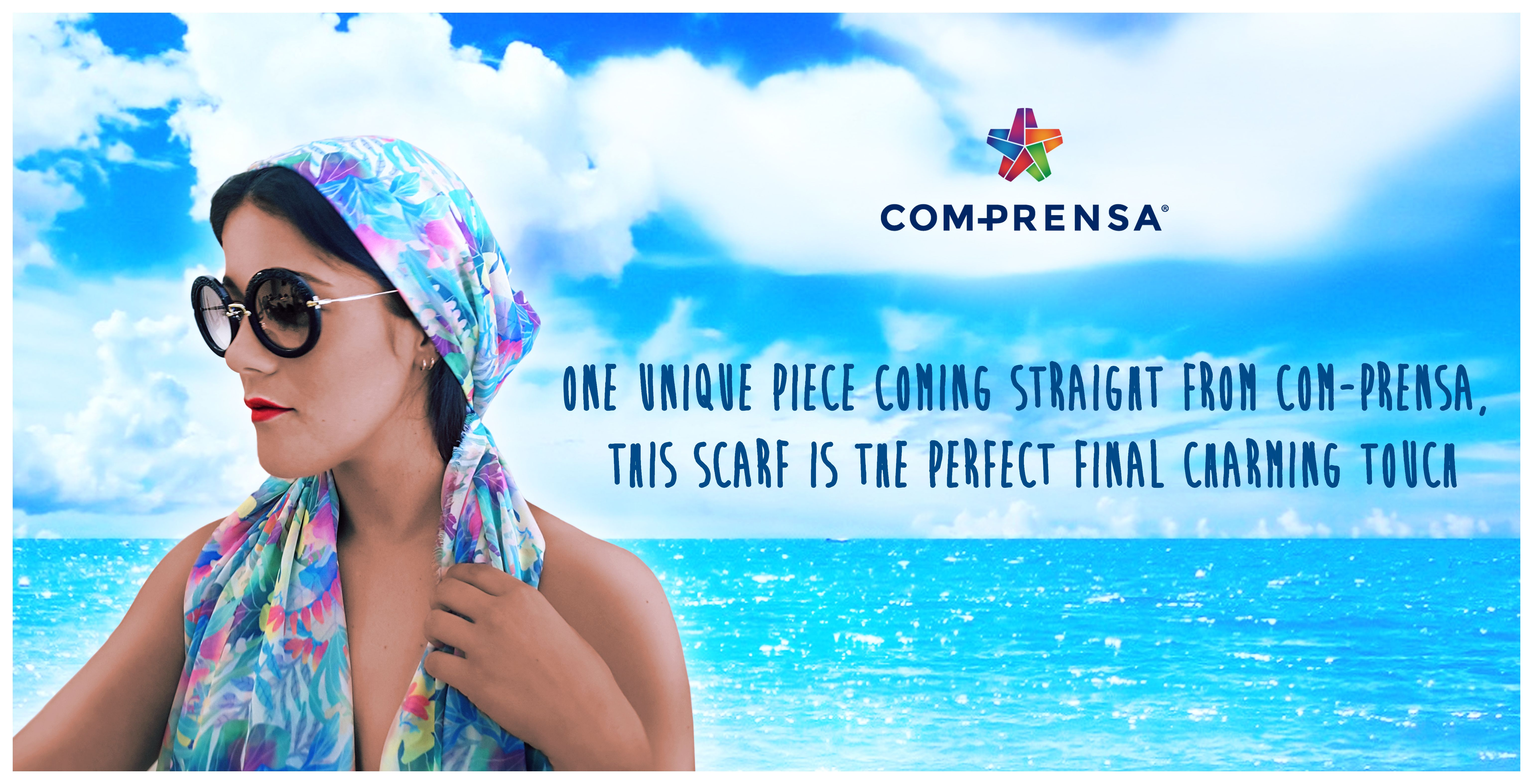 One unique piece coming straight from Com-Prensa, this scarf is the perfect final charming touch