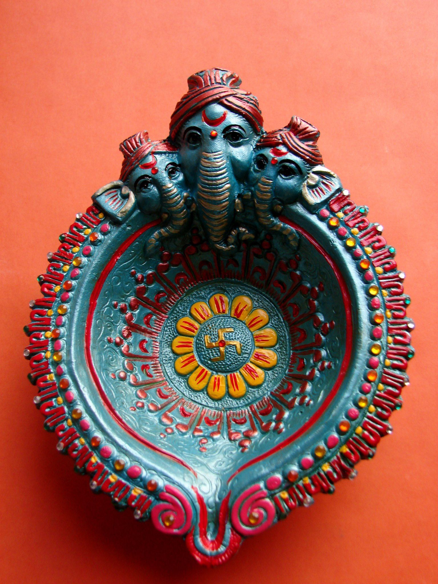 Handpainted Ganesh Diwali Diya Diya Decoration Ideas Diwali Diya Decoration Diwali Diya