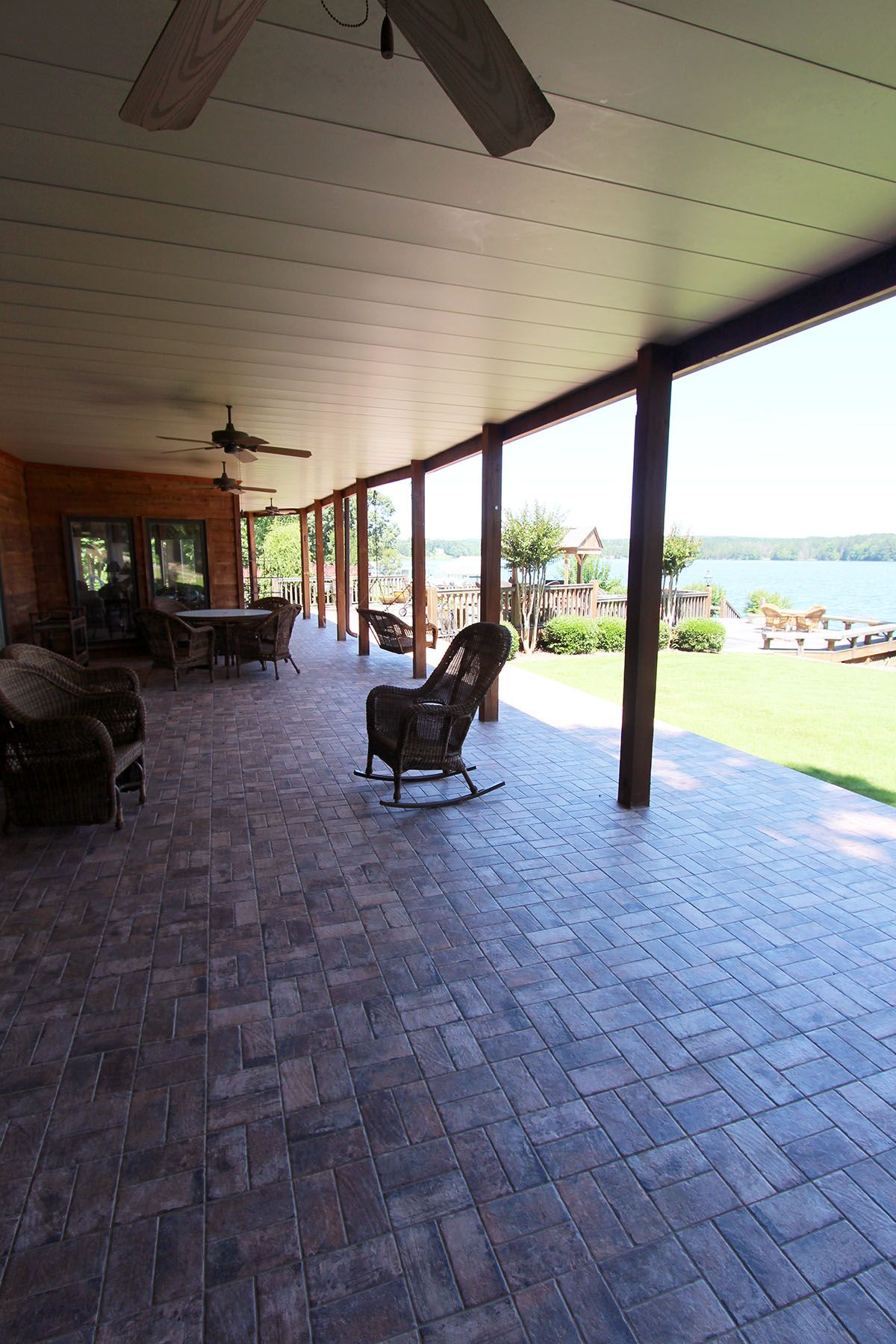 Outdoor Living Area Paved With Chicago Brick Tile