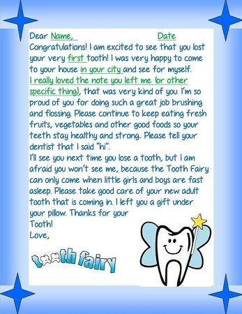 Tooth Fairy Letter 4 | Letters From The Tooth Fairy | Tooth fairy