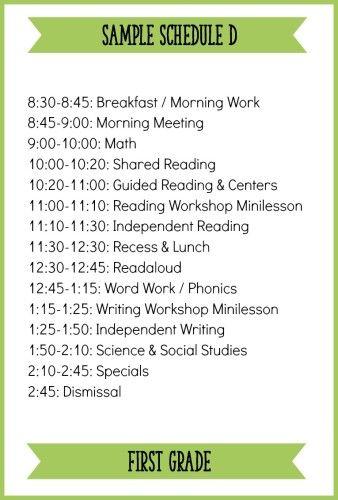 Fitting It All In How to Schedule a Balanced Literacy Block for - sample schedules