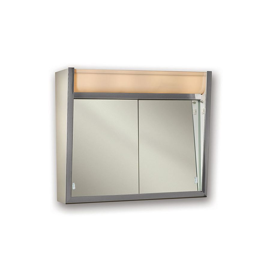 Mirrored Medicine Cabinet Lowes Jensen Ensign 24In X 235In Rectangle Surface Mirrored Steel