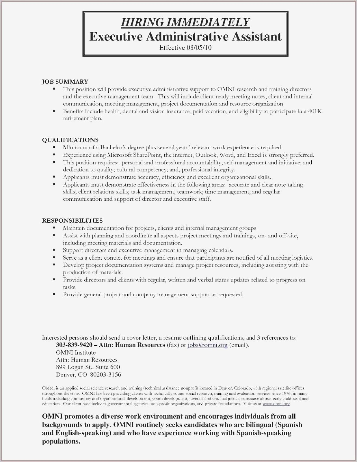 Hiring Immeditely Executive Administrative Assistant in