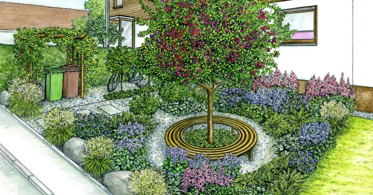 1 Garten 2 Ideen Ein Schmuckloser Vorgarten Wird Neu Gestaltet Garten Ideen Gestaltung Vorgarten Vorgarten Bepflanzen Vorgarten Gestalten