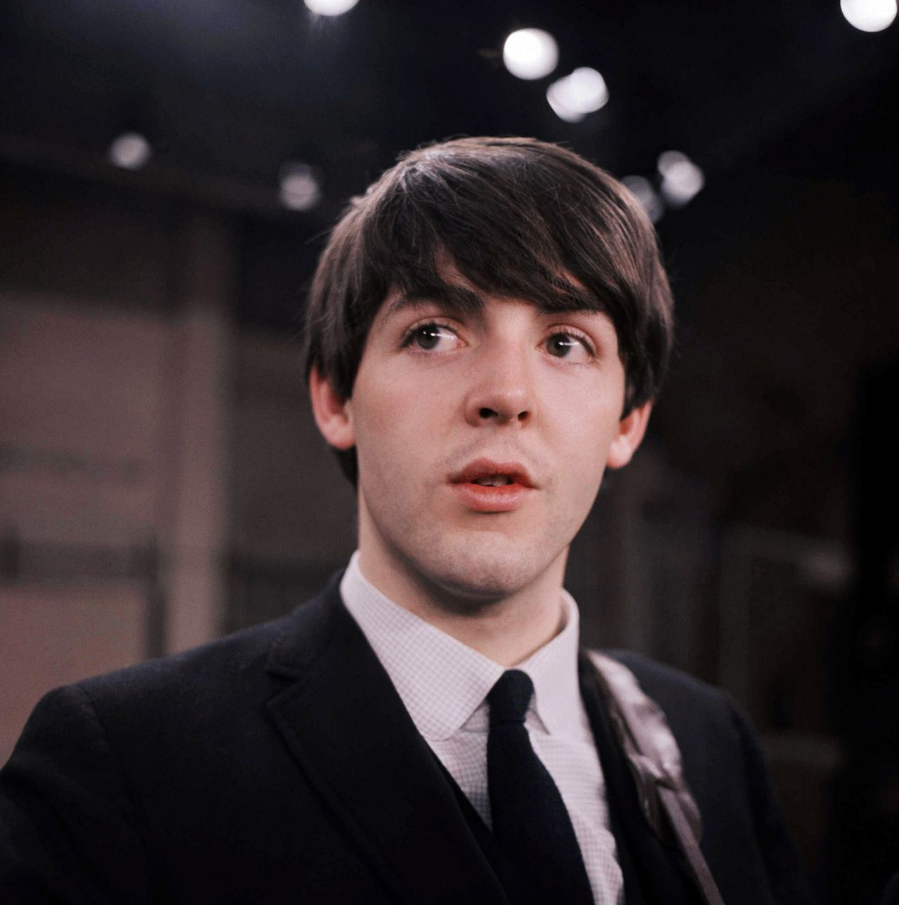 Paul McCartney On The Set Of Ed Sullivan Show Feb 1964