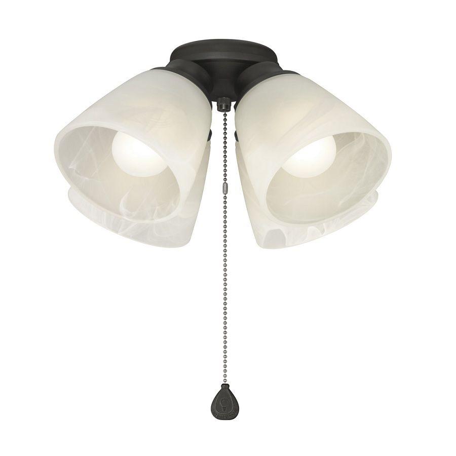 Harbor Breeze 4 Light Matte Black Incandescent Ceiling Fan Light Kit With Alabaster Shade Fan Light Fan Light Kits Ceiling Fan Light Kit