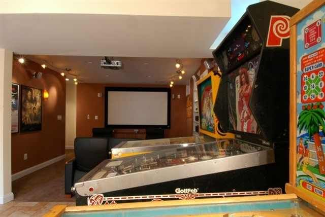 Pinball machines and full-sized video games