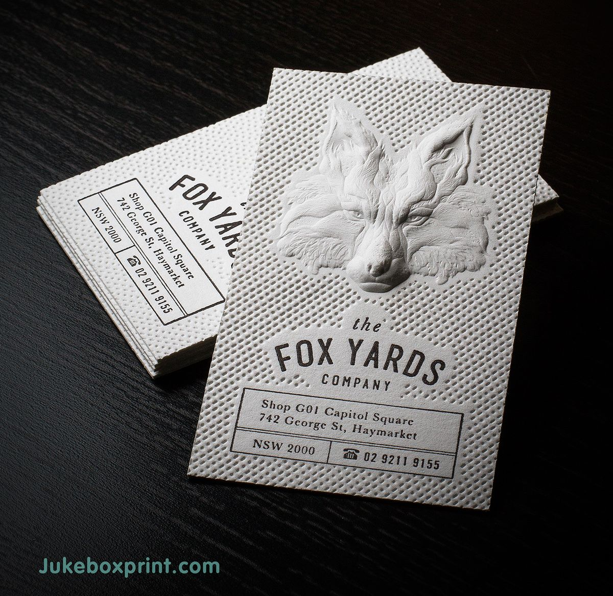 50 inspiring examples of letterpress business cards | Business cards ...