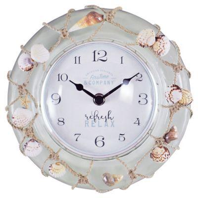 Firstime Ocean Float 8 Wall Clock Multi Round Wall Clocks Wall Clock Beach House Gift