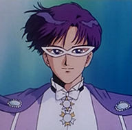 Name: King Darien  He is King Darien of Crystal Tokyo.   When he was younger, he went around as Tuxedo Mask.