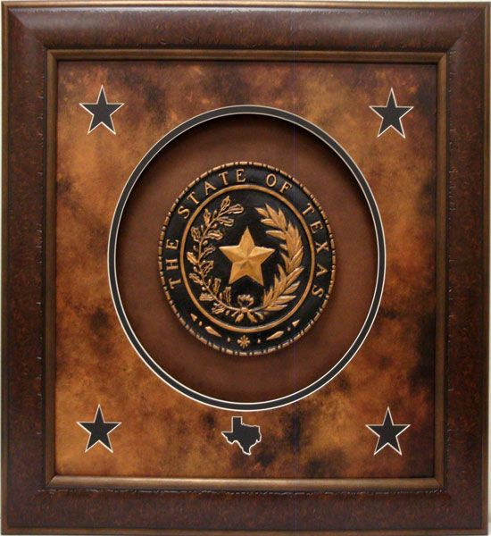 framed replica of the texas state seal 37 x 37 texas pinterest texas. Black Bedroom Furniture Sets. Home Design Ideas